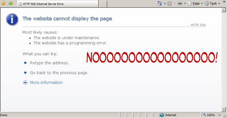 WordPress 500 Server Error White Screen of Death