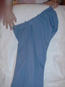 Picture of pants with extra room in the back