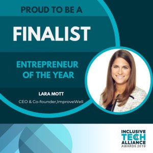 "ImproveWell CEO named a finalist for ""Entrepreneur of the Year"" in 2019"