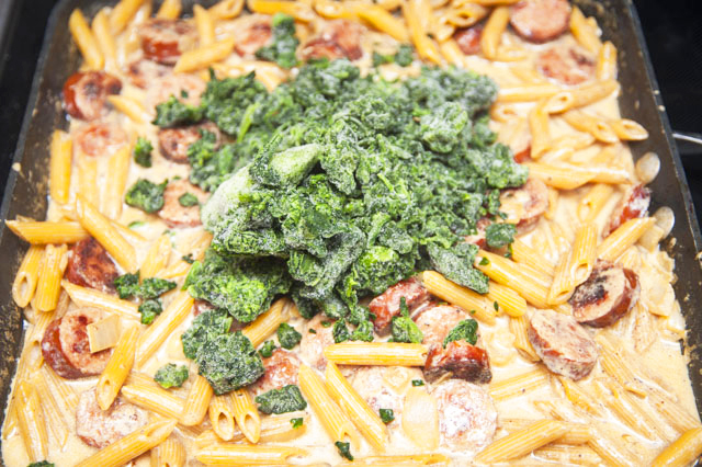 Italian sausage spinach and pasta recipes