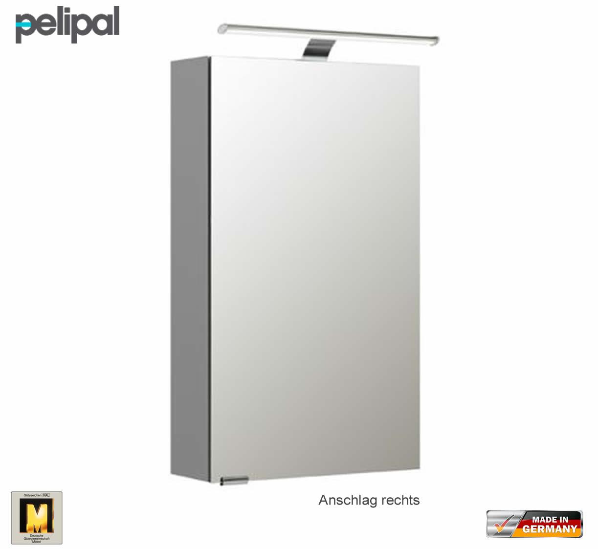 Pelipal Neutraler Spiegelschrank S5 40 Cm Mit Led Aufsatzleucht Impulsbad