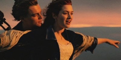Leonardo DiCaprio and Kate Winslet in romantic classic Titanic