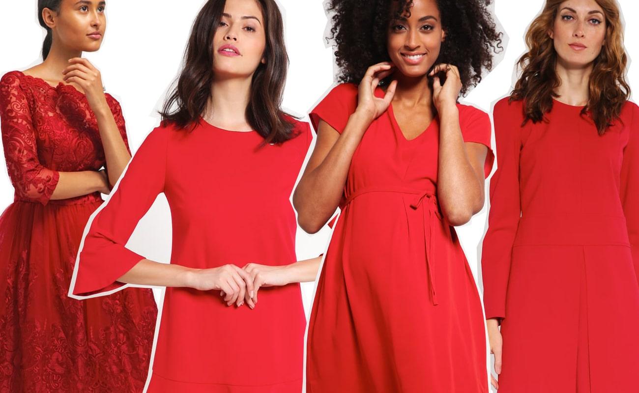 Risultati immagini per abiti rossi per le feste natalizie 2016