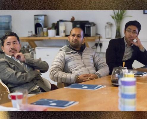 Advocate Sunil Mow - Chairman, Athupopo Social Foundation Amit Patro - Editor Sikkim Express; Maitreya Shakya - Business Manager, Impulse Social Enterprises