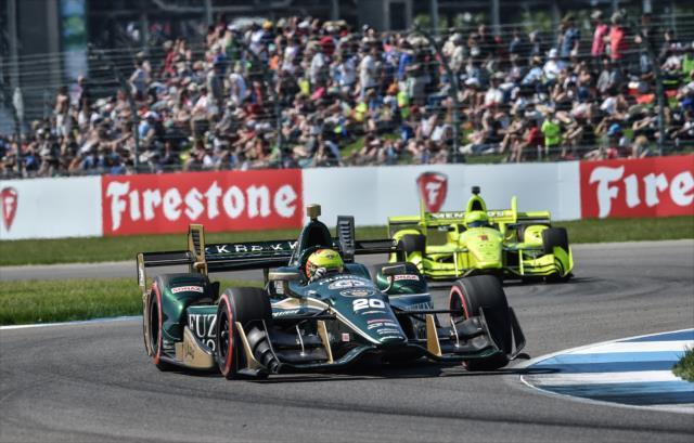 Pigot le dio a Carpenter su mejor resultado en el Gran Premio (FOTO: John Cote/INDYCAR)