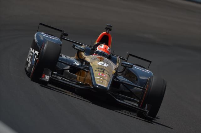 Hinchcliffe logró la pole el año pasado (FOTO: Chris Owens/INDYCAR)