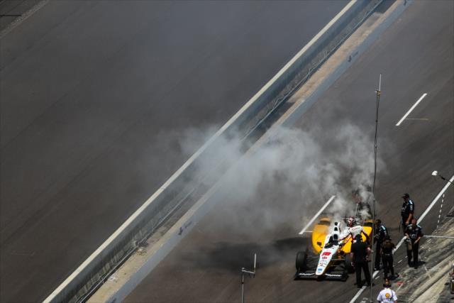 Se rompieron once motores durante las actividades de las dos carreras en Indianapolis (FOTO: David Yowe/INDYCAR)