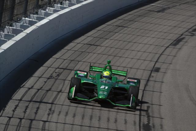 Primer podio de Pigot (FOTO: Chris Jones/IMS, LLC Photo)