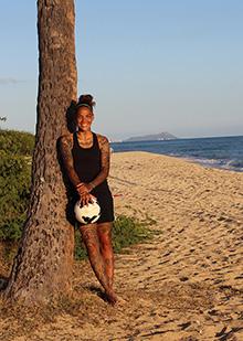 Tasha Kai on beach IB