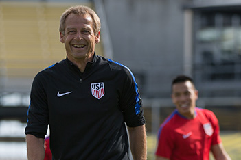 Columbus, OH - March 24, 2016: The U.S. Menís National team train in preparation for their World Cup Qualifying (WCQ) match versus Guatemala at MAPFRE Stadium.