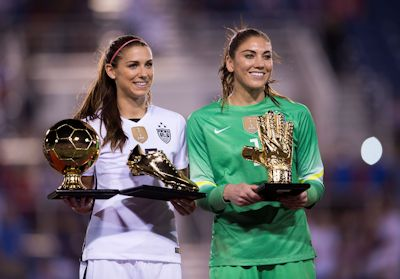 Boca Raton, FL - March 9, 2016: The USWNT defeated Germany 2-1 in the She Believes Cup at FAU Stadium.