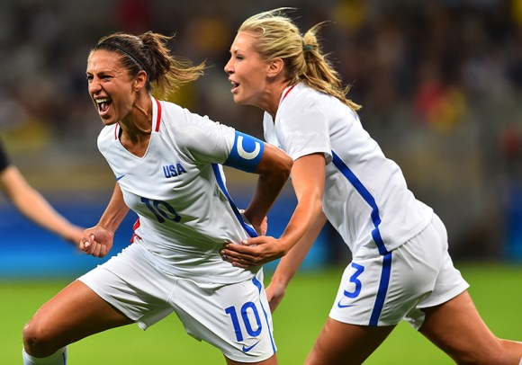 Belo Horizonte, Brazil - Wednesday, August 3, 2016: The USWNT go up 1-0 over New Zealand from a goal by Carli Lloyd in first half action in Group G play during the 2016 Olympics. Photo by Brad Smith.