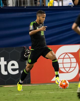 CHARLOTTE, NORTH CAROLINA - July 15, 2015: The 2015 Concacaf Gold Cup Mexico vs Trinidad and Tobago at Bank of America Stadium. Final score Mexico 4, Trinidad and Tobago 4. Photo by ISI.
