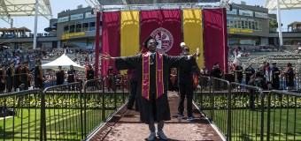 Congrats grad! Gyasi Zardes graduated from Cal State Domingez Hills on Friday