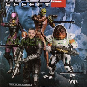 Mass Effect Action Figures Complete Set of 8 DC Direct
