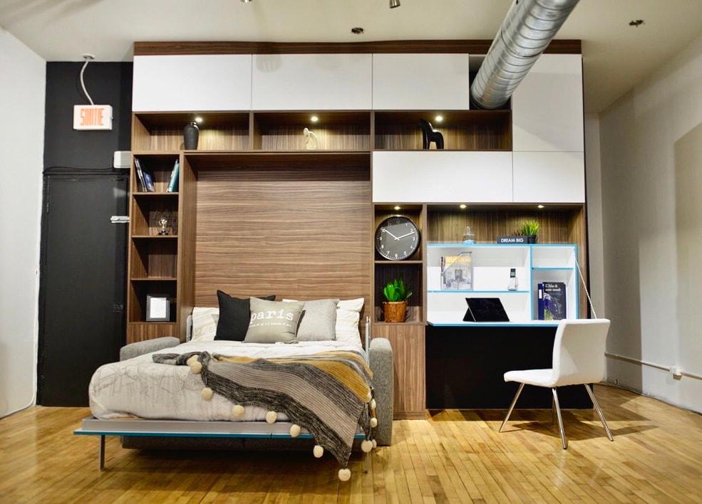 lit escamotable avec sofa integre