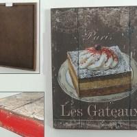 """Holz Bild """"Les Geteaux"""""""