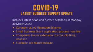 COVID-19 – Business Support Update 30 March 2020