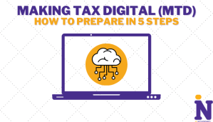 Article cover design for Making Tax Digital MTD how to prepare for it in 5 steps