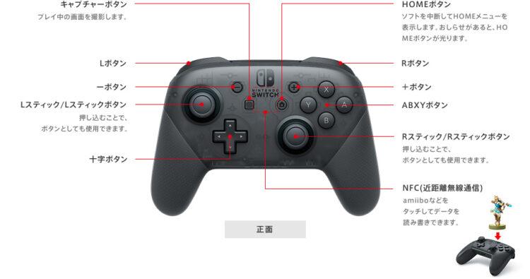 Nintendo Switch Proコントローラースペック・概要