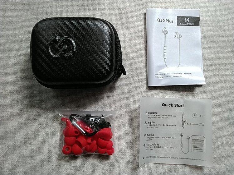 SoundPEATS(サウンドピーツ) Q30 Plus Bluetooth イヤホン パッケージ内容