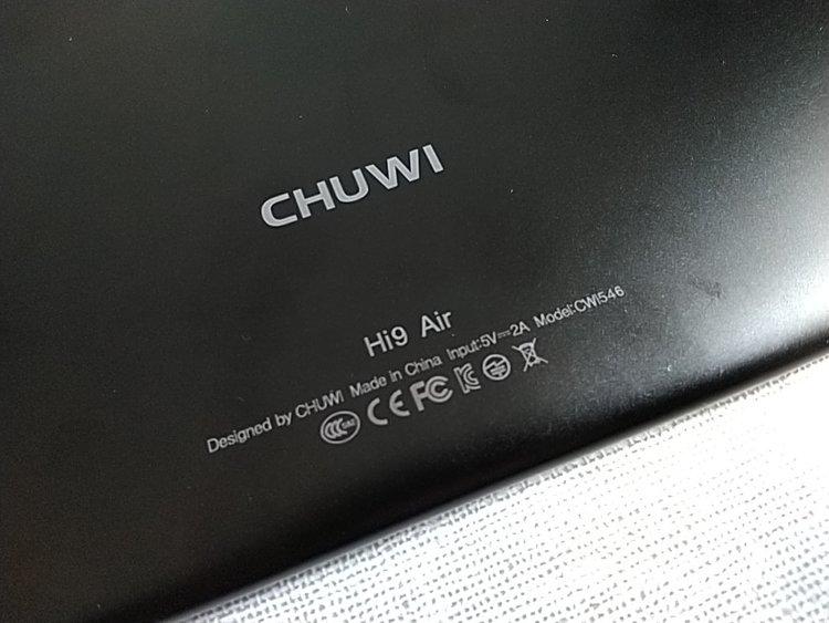 CHUWI Hi9 Air 認証取得済みロゴ