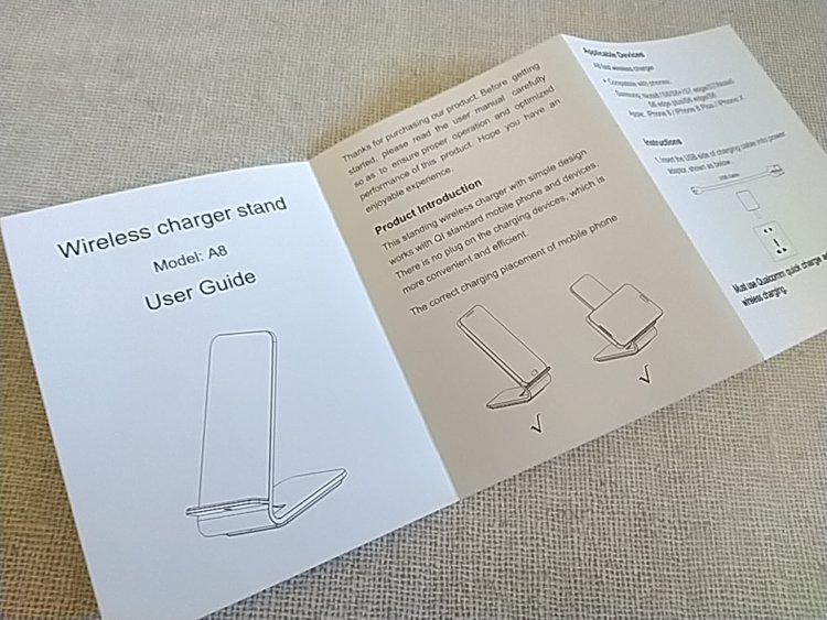 Qi対応木目調ワイヤレス充電スタンド ユーザーマニュアル