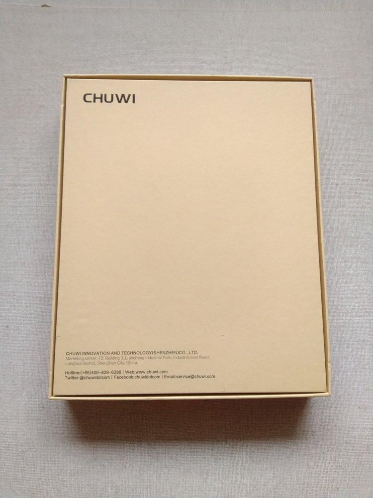 CHUWI Hi9 Pro化粧箱裏面
