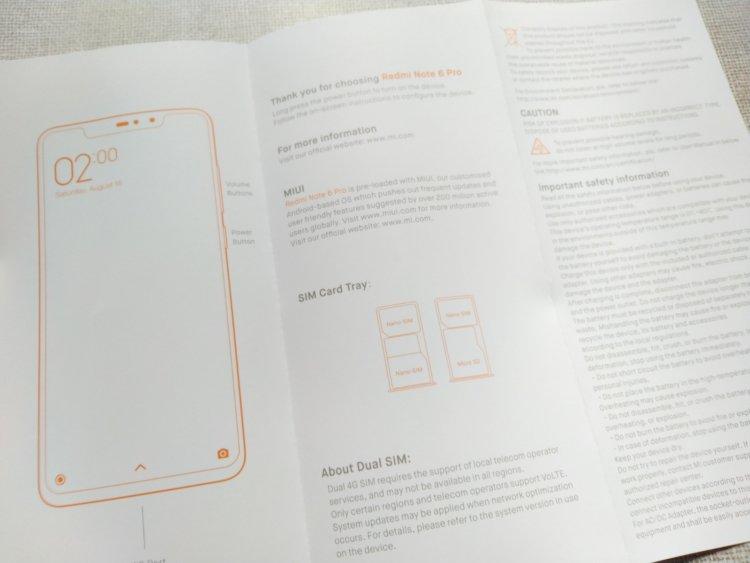 Xiaomi Redmi Note 6 Proユーザーマニュアル