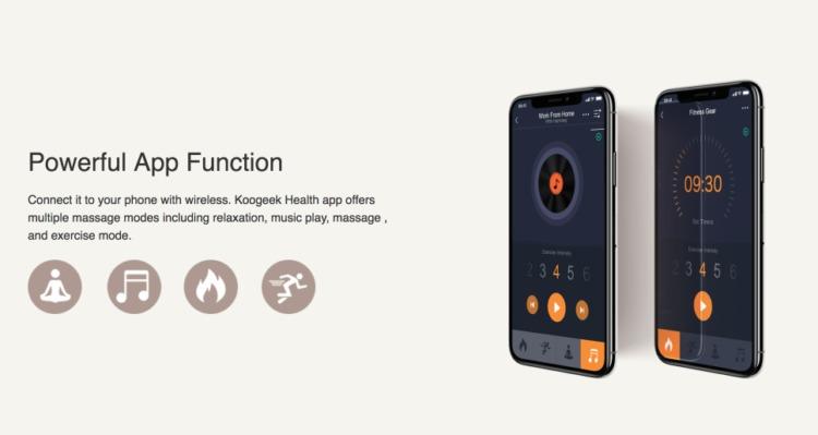 Koogeek EMS マッサージャーはアプリ連動が可能
