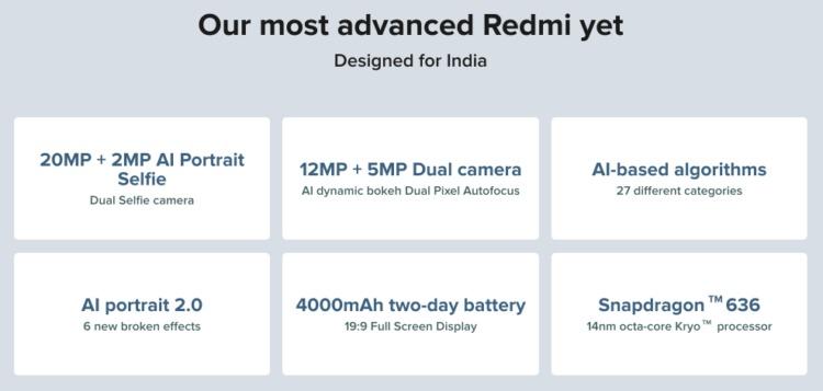 Xiaomi Redmi Note 6 Pro スペック