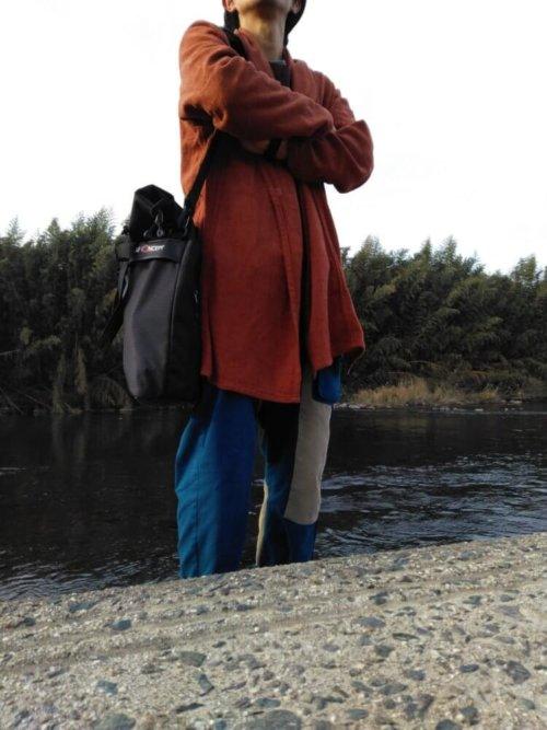 Large Shoulder Messenger Bag for DSLR Camera Photography ショルダーバッグ利用イメージ