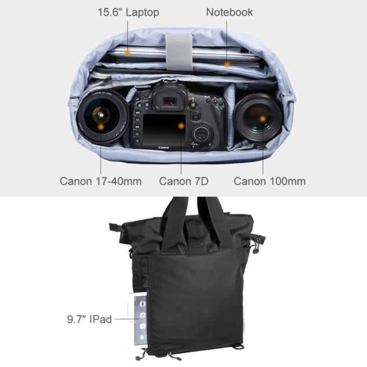 Large Shoulder Messenger Bag for DSLR Camera Photographyは機能性の高いバッグ