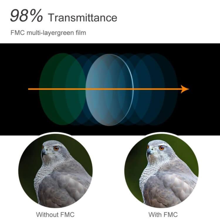 単眼鏡 12x50高倍率 IP68防水 K&F Concept 望遠鏡 防塵 防霧 スマートフォンホルダー付き 三脚に装着可能 商品概要