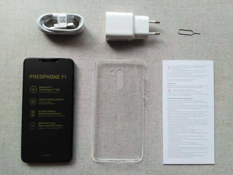 Xiaomi Pocophone F1パッケージ内容