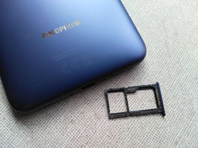 Xiaomi Pocophone F1 SIMカード