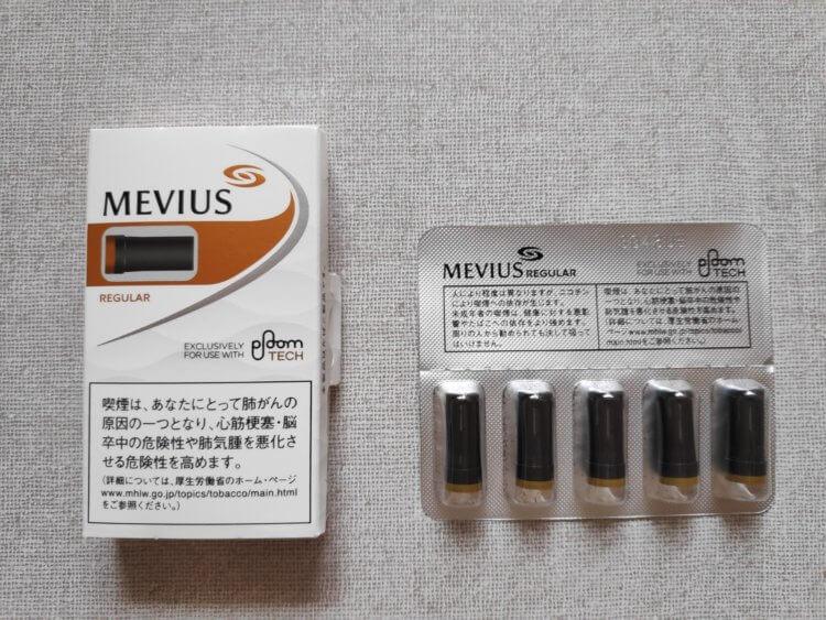 STANDARD LINE】MEVIUS REGULAR for Ploom TECH 【スタンダードライン】メビウス・レギュラー・フォー・プルーム・テック中身