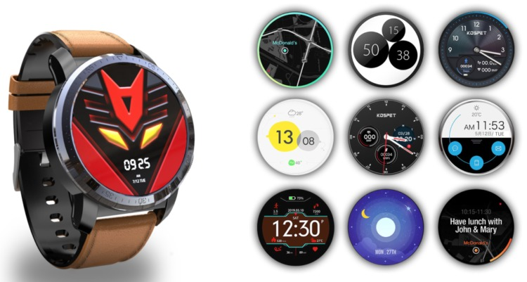 Kospet Optimus Proはの自由にカスタマイズできるウォッチフェイス