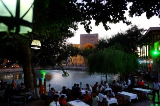 Lyabi-Hauz Plaza at Night