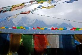 Flying Prayer Flags