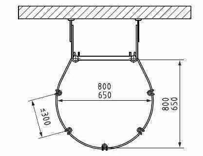 dimensioni gabbia scala - esempio 4
