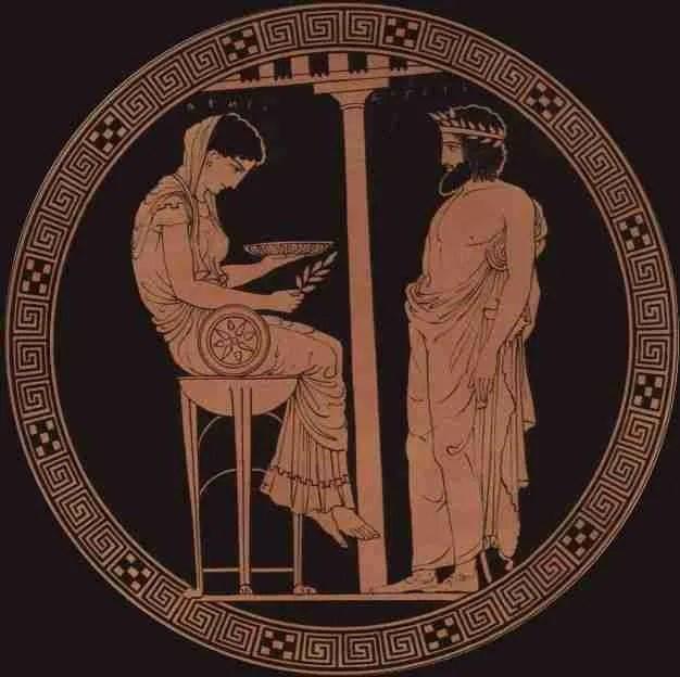 gas naturale mortale nel tempio dell'Oracolo di Delfi