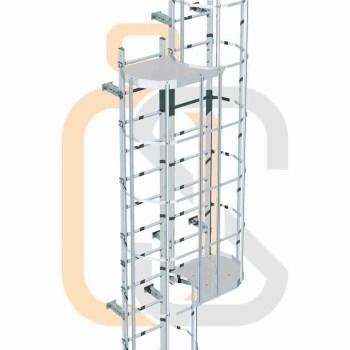 scala con gabbia - piattaforma di riposo