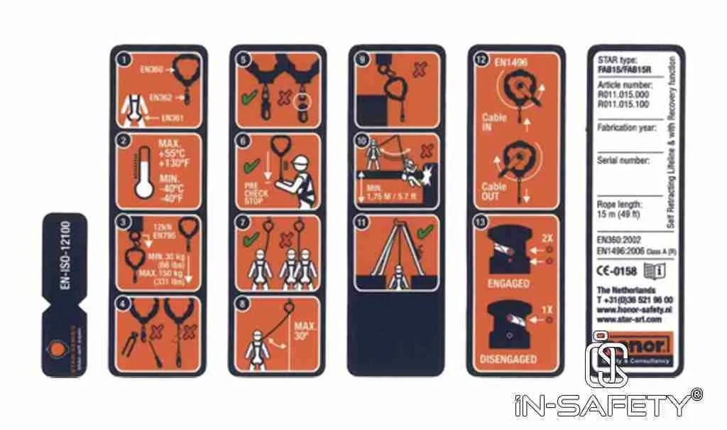anticaduta retrattili - etichette - controlli pre uso - condizioni operative