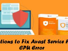 Avast service high cpu