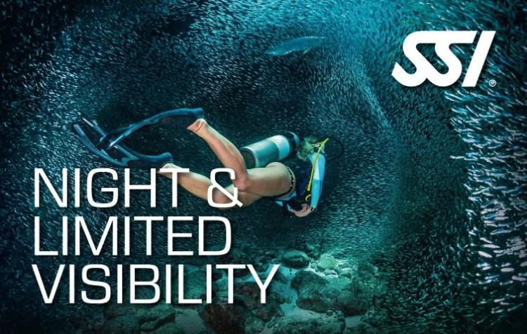 Nacht en Slecht zicht duiken Night & Limited Visibility Diving specialty SSI