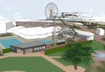 skegness new 70ft high wire attraction