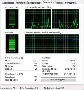 Számítógép feladatkezelő Windows 7