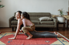 exercise with child