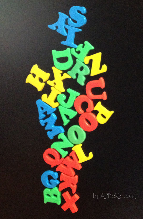 Magnetic Alphabet Word Scramble Writing Prompt In A Tickle